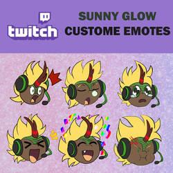 Sunny Glow Twitch emotes