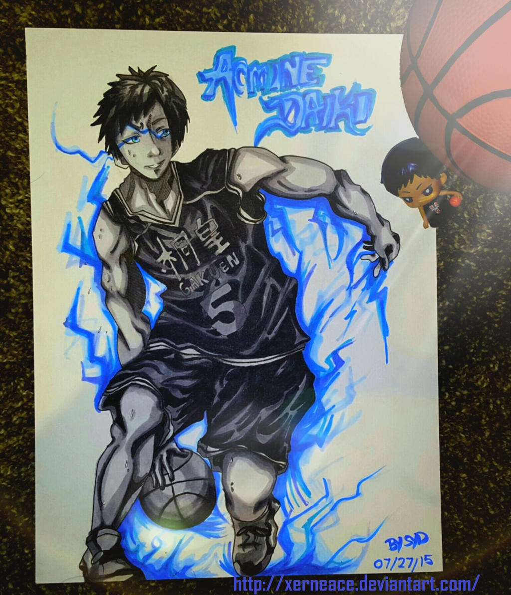 aomine daiki copic art zone knb by xerneace on deviantart