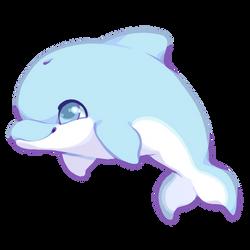 Cute Dolphin by Kakiwa