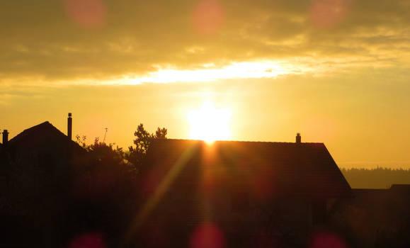 Golden Sun over the Village