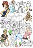 Random Giant Sketch by Sanaril
