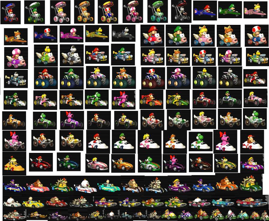Mario Kart Wii Karts By Ohiostatebuckeyes On Deviantart