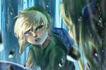 Wind Waker - Link and Zelda by Kaikkei