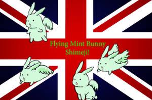[APH] Flying Mint Bunny Shimeji by Chibitalia-Pasta