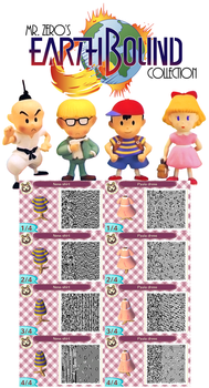 Animal Crossing: New Leaf QR Earthbound Collection