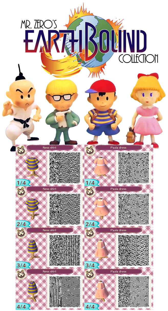 Animal crossing new leaf qr earthbound collection by misterzero