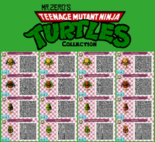 Animal Crossing: New Leaf TMNT QR Collection