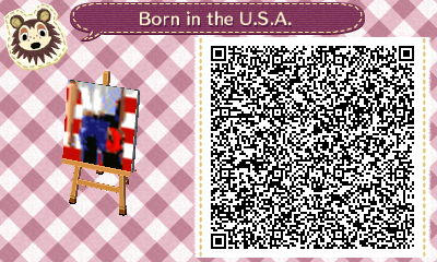 Animal Crossing: NL QR Born in the U.S.A. Wall Art