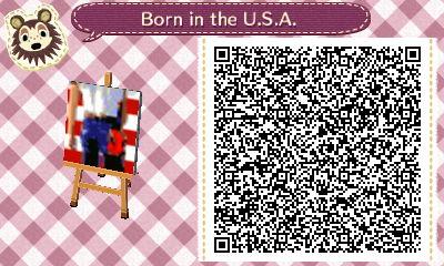 Animal Crossing: NL QR Born in the U.S.A. Wall Art by misterzero