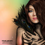 vexel art peacock feathers