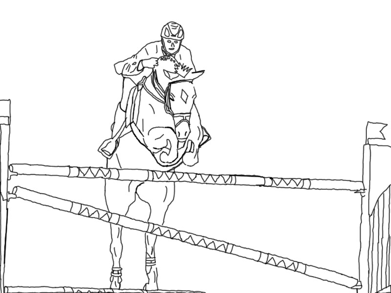 Line Drawing Jumper : Showjumping line art by horselinearts on deviantart