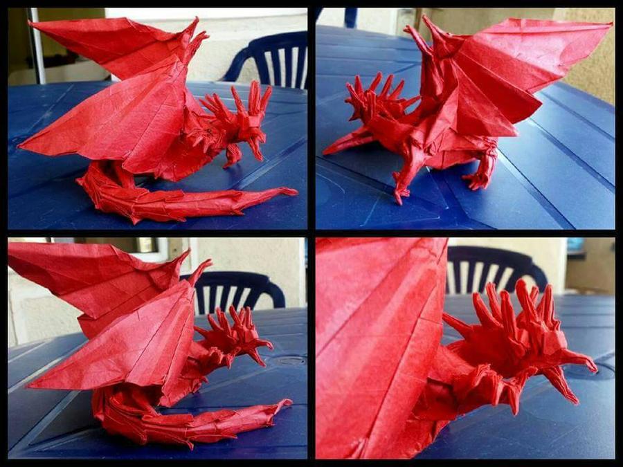 Origami Ancient Dragon Satoshi Kamiya By Aflawedartist On Deviantart