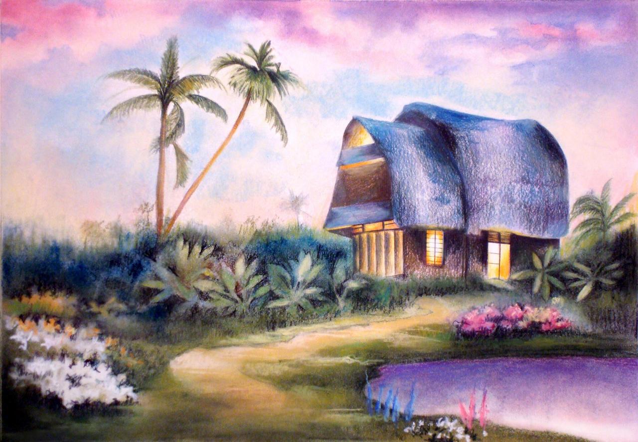 Home Under the Violet Sunset