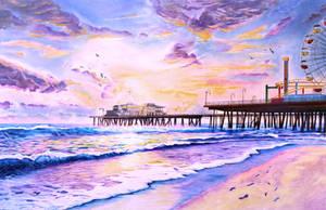 Sunset by the Santa Monica Pier