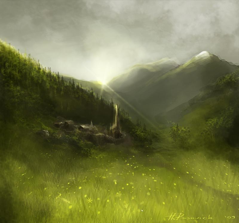 mist village by oione