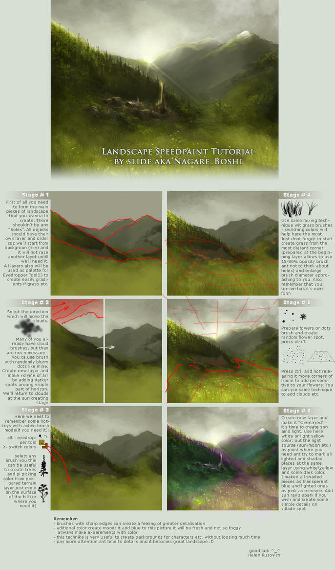 Landscape Speedpaint Tutorial By Oione On DeviantArt