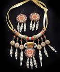 Tauren necklace + earrings set