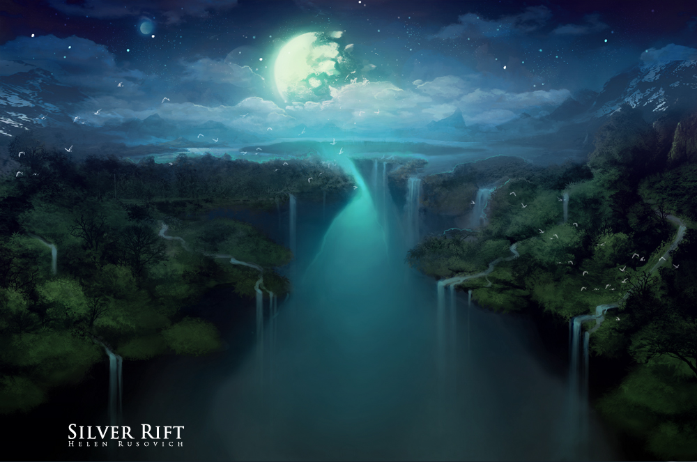 Silver Rift - night by oione