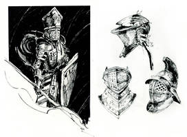 Knight ink by oione