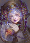 Light Hunter Closeup Portrait