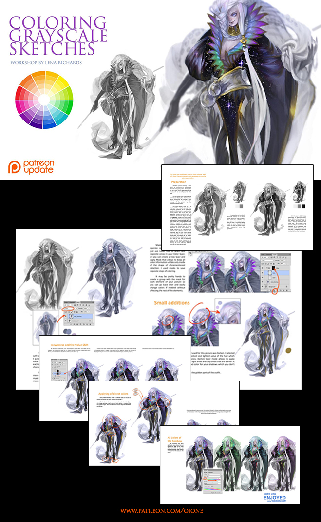 Preview -  coloring the grayscale pictures by oione