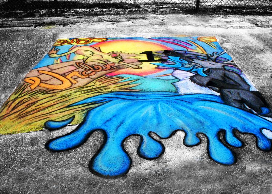 Chalk Walk. -school version- by ericakris