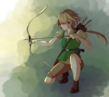 Redraw: Izu the hunter by GraceKino