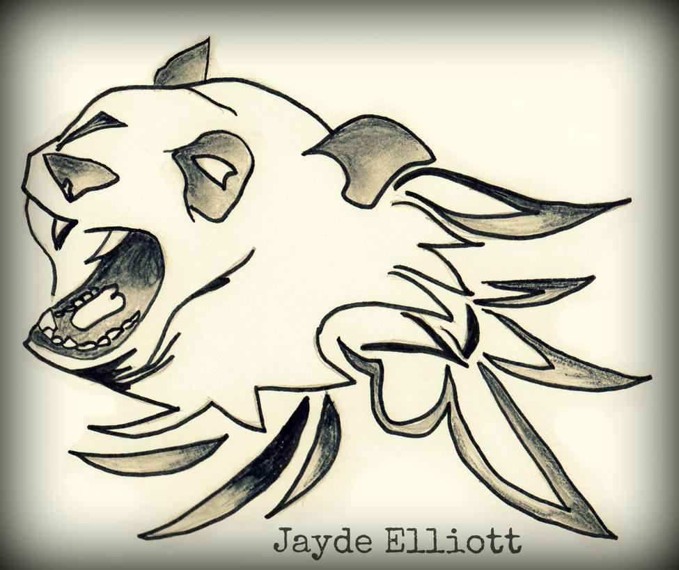 Panda Modern Tribal Tattoo Design By Jaydeelliottartist On Deviantart