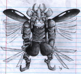 Notebook: Samurai Bug