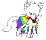 my fursona (rainbow) by nyancatrules