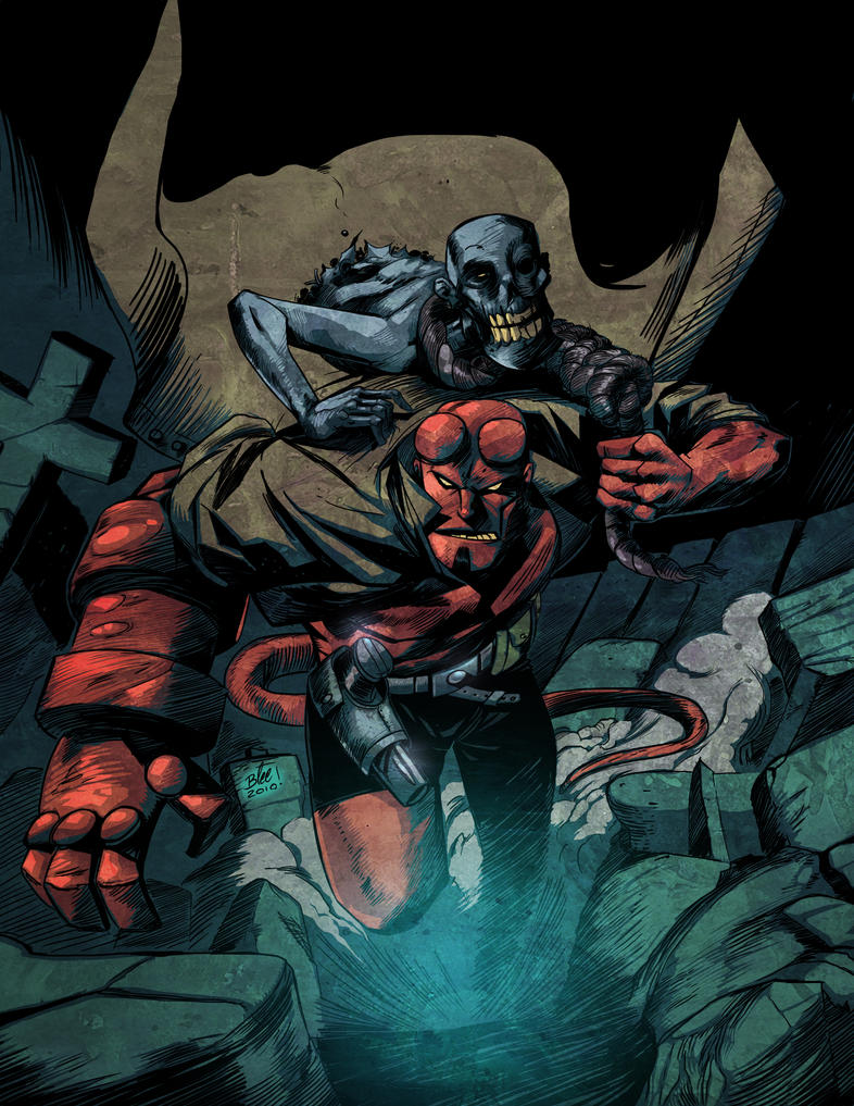 hellboy color by federicoblee