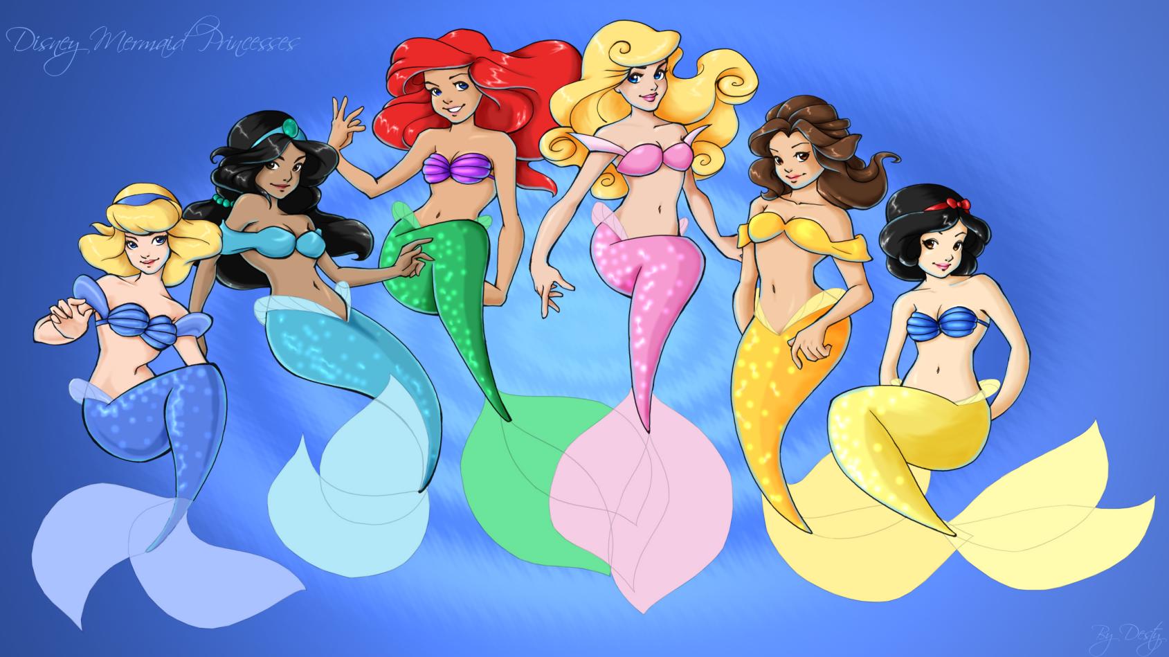 . mermaid princesses . by destianna