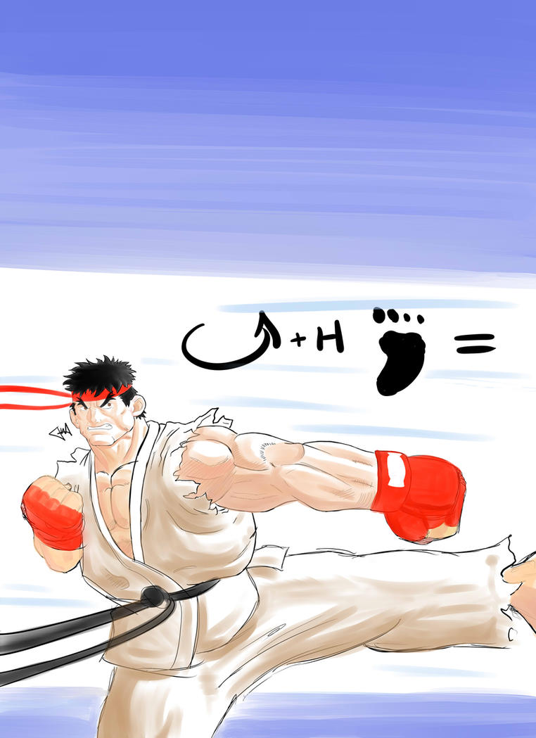 Ryu Joudan Sokutou Geri by WayneAlright