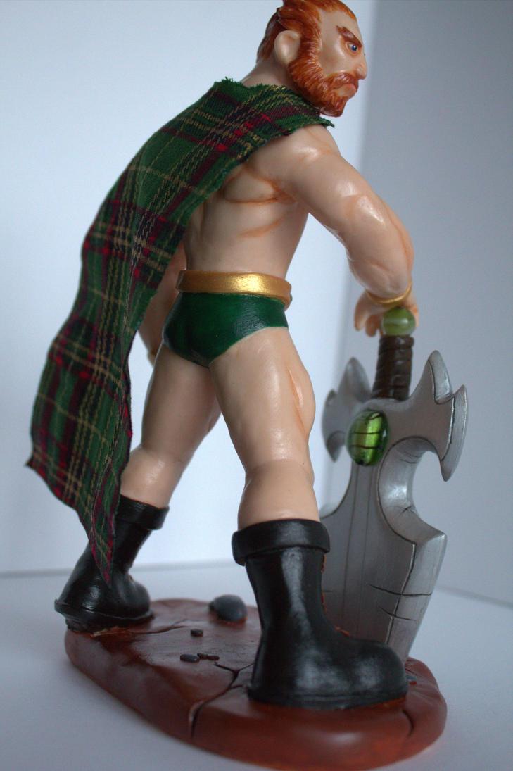 Sloane. Celtic Warrior Fantasy Sculpture. OOAK. 7 by WayneAlright