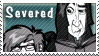 Severed stamp