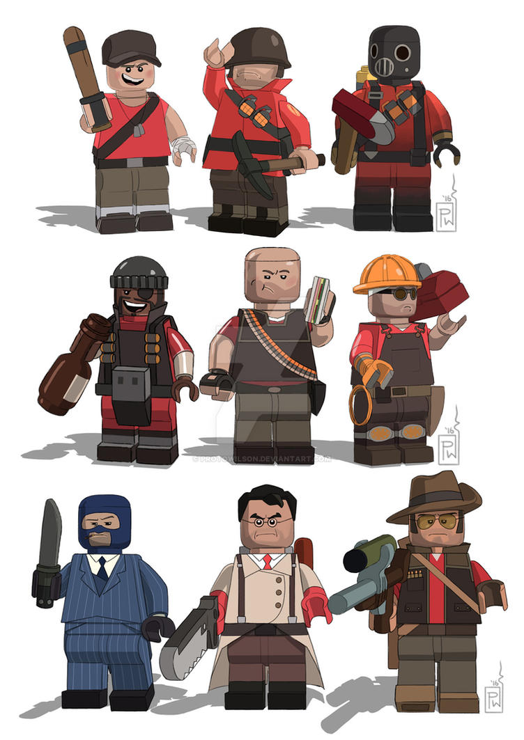 LEGO TF2 by protowilson