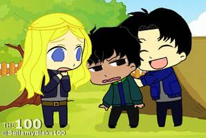 The 100: Clarke, Bellamy, and Finn by BellamyBlake100