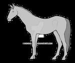 Warmblood Horse Base - 50pts by h0moglobin