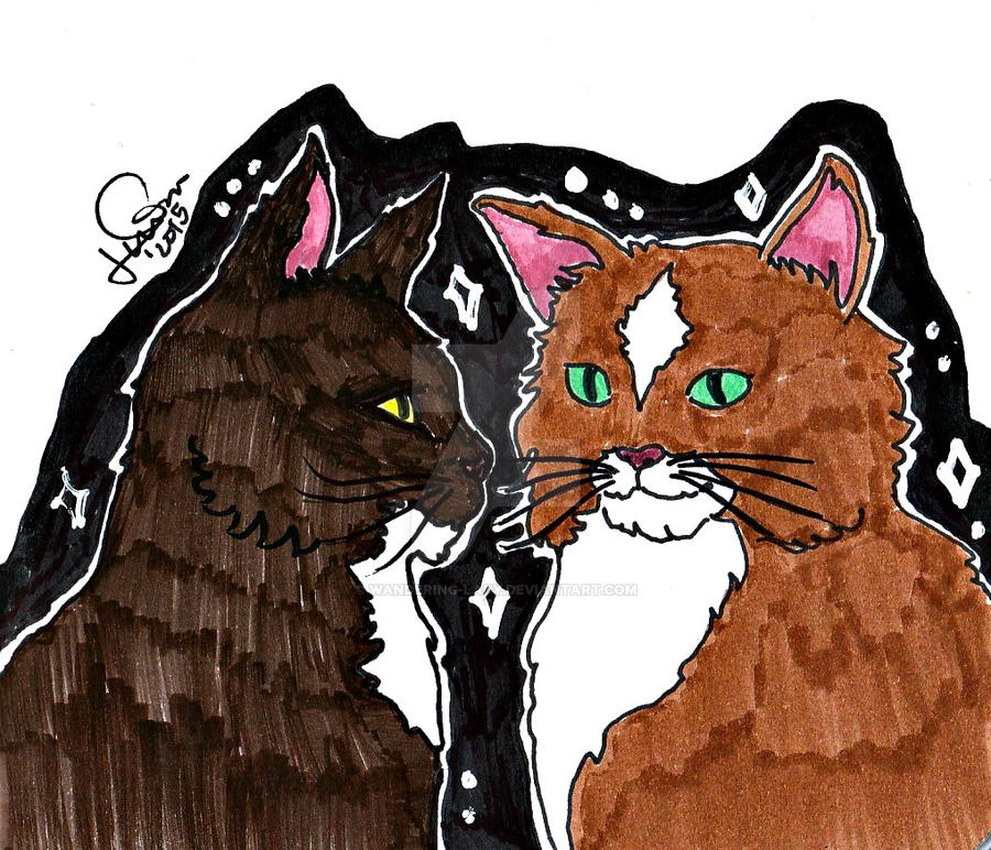 Inktober day 7: Cats by Wandering-Lady