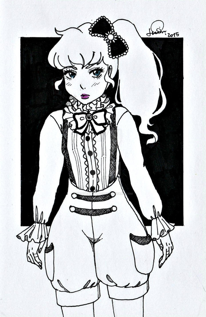 Inktober day 8: Gothic Lolita inspired by Wandering-Lady