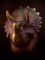 Triceratops Caricature by stroggtank