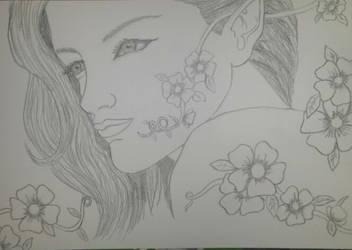 Elfo entre flores by Prigata1407