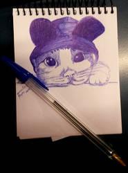 Gatito con sombrero by Prigata1407