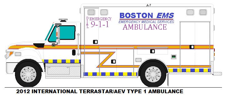 Boston MA Ems Ambulance 7 by PortalStar41