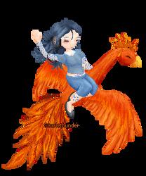 Raevena's Phoenix-Gaia Aviart by scarlethunder