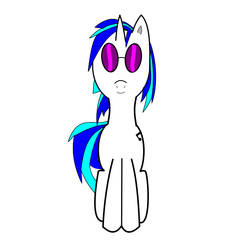 Dj Pon 3 Frontview Inkscape by Cutie3Marker