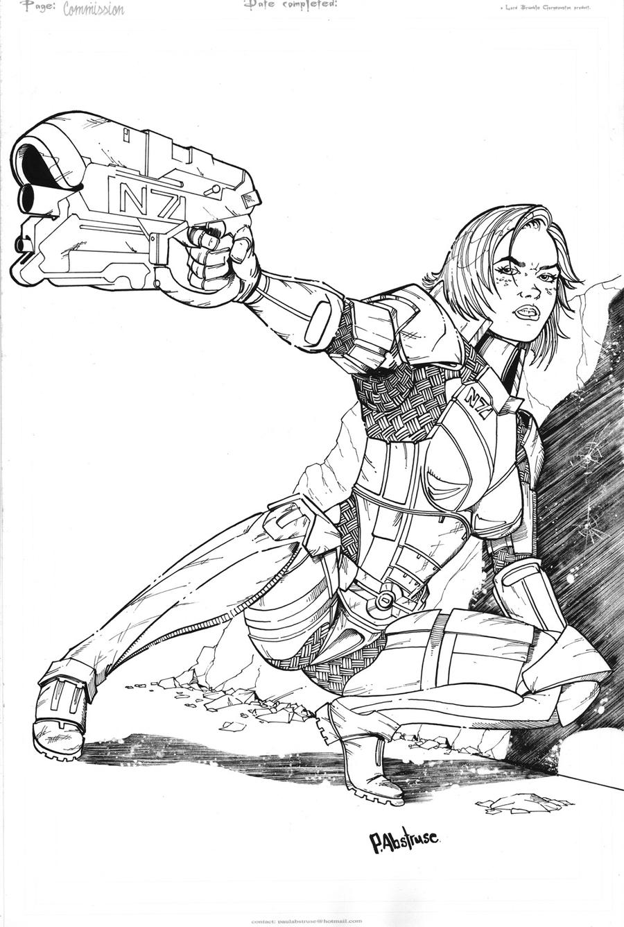mass effect 3 coloring pages - photo#16