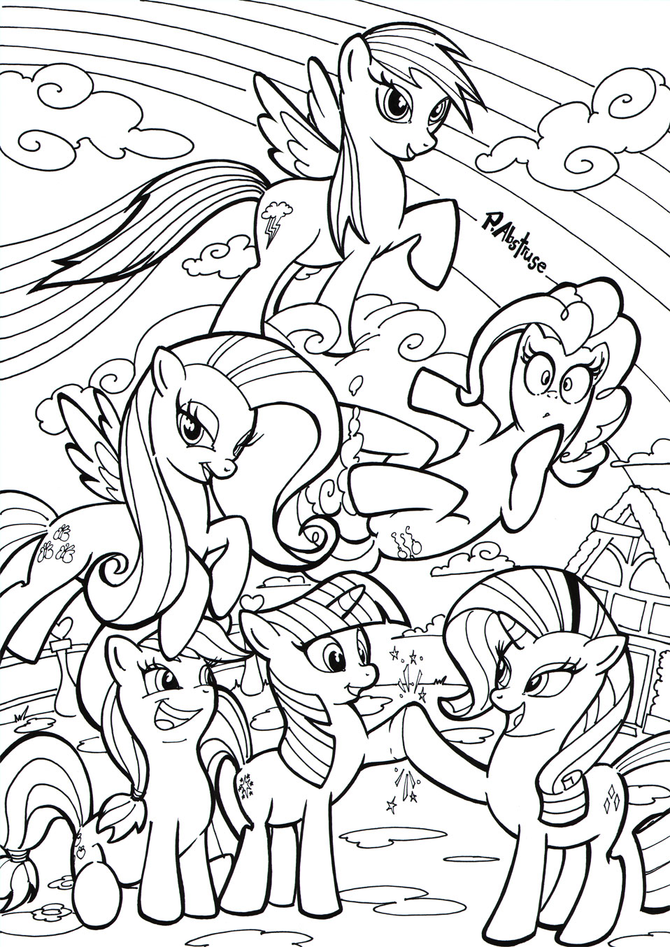 My Little Pony Coloring Book Deviantart Coloring Pages