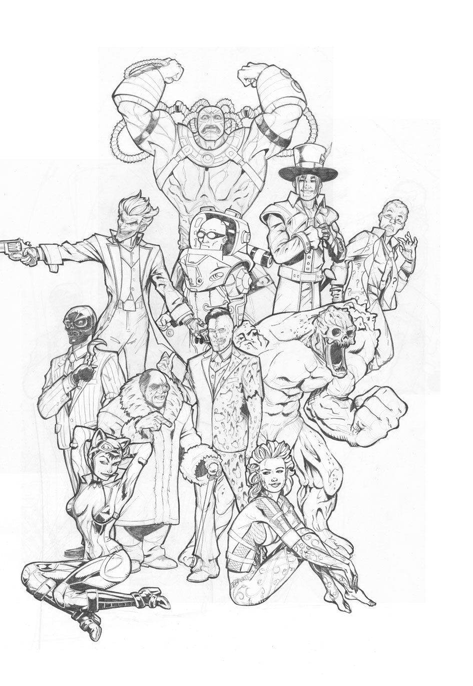 Line Drawing Tattoo Sleeve : Arkham city tattoo sleeve by paulabstruse on deviantart