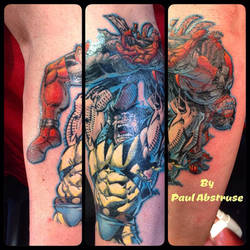 e2df388fc paulabstruse 5 2 Wolverine and deadpool tattoo by paulabstruse